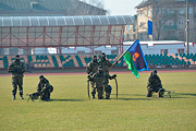Спецназ выступил на бобруйском стадионе