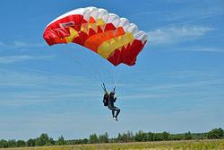 Соревнования по парашютному спорту в Бобруйске