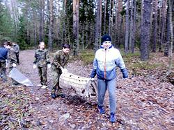 Юные патриоты Бобруйска помогают природе