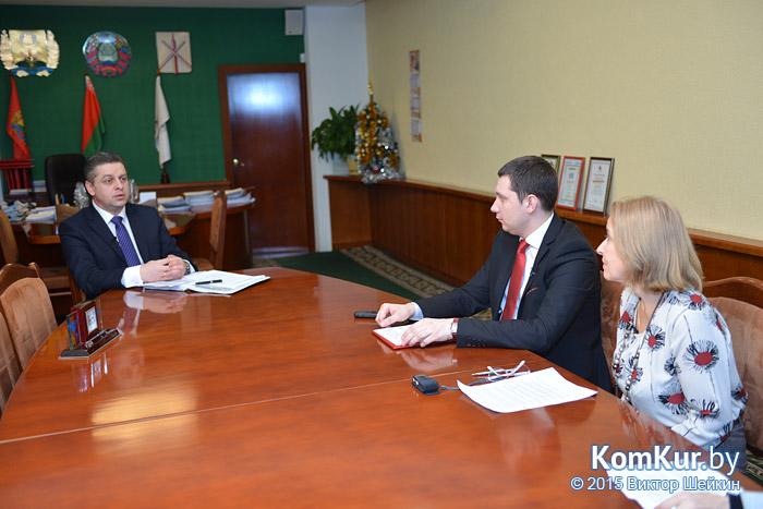 В Бобруйске состоялась пресс-конференция с председателем горисполкома А. В. Коваленко