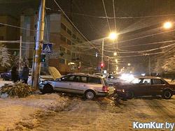 На главной улице Бобруйска столкнулись BMW и Volkswagen.