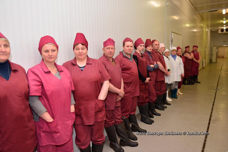 Фото сотрудников гомельского мясокомбината